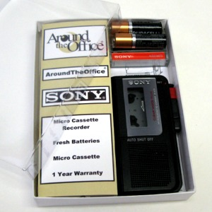 M-470 SONY Microcassette Voice Recorder M470 Gift Boxed by Around the Office wit by EBS
