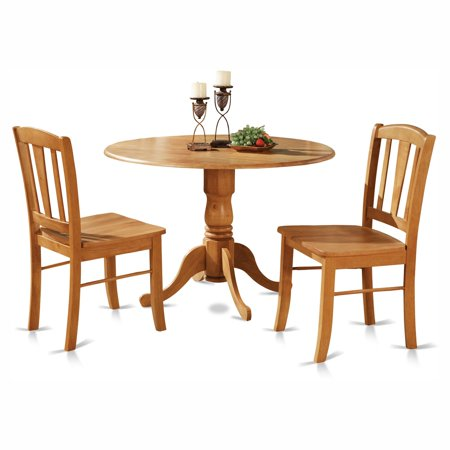 East west furniture dublin 3 piece drop leaf dining table for 10 piece kitchen table set