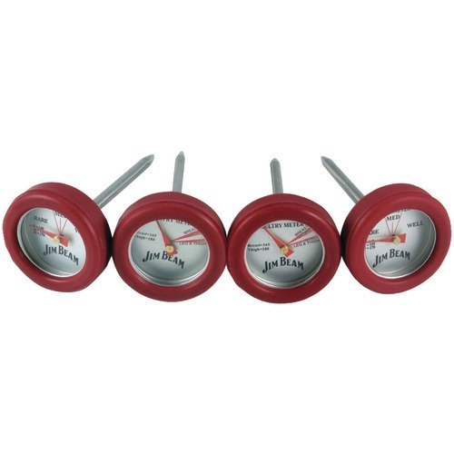 Jim Beam Jb0134 Poultry & Steak Mini Thermometers, 4 Pk