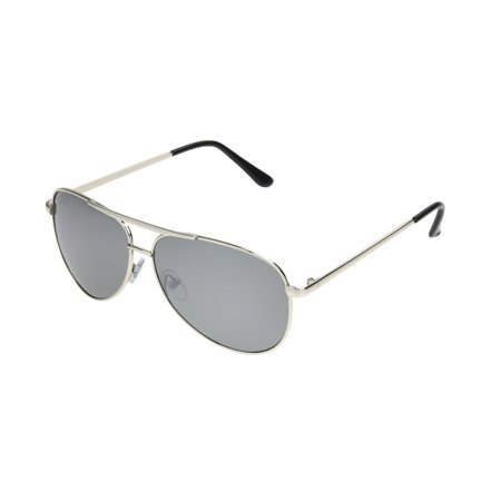 Electric Silver Sunglasses - Panama Jack Men's Silver Mirrored Aviator Sunglasses MM09