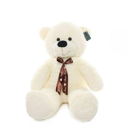 Joyfay Teddy Bear in White- Big 3 foot (39 inches) Teddy Bear, Stuffed Toy for Christmas or Birthdays