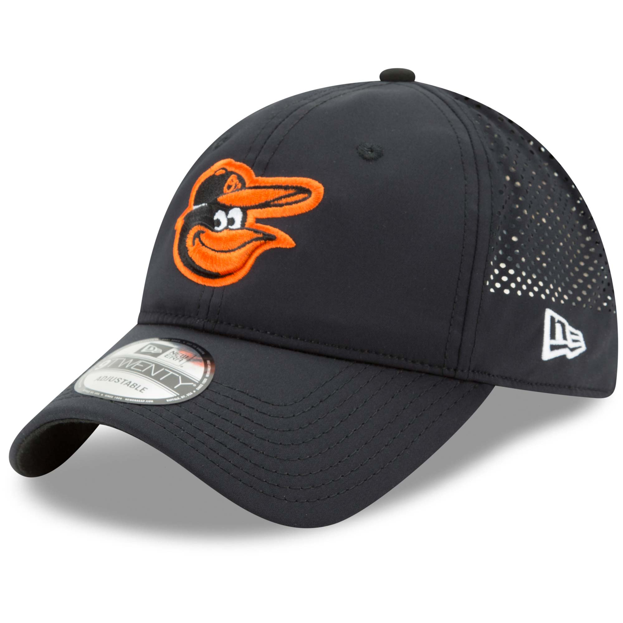 the best attitude b673a 0fffd ... best price product image baltimore orioles new era perforated pivot 2 9twenty  adjustable hat black osfa