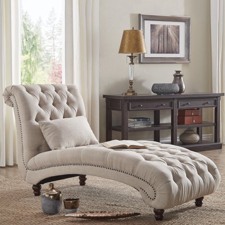 Inspire Q Knightsbridge Tufted Oversized Chaise Lounge By Artisan