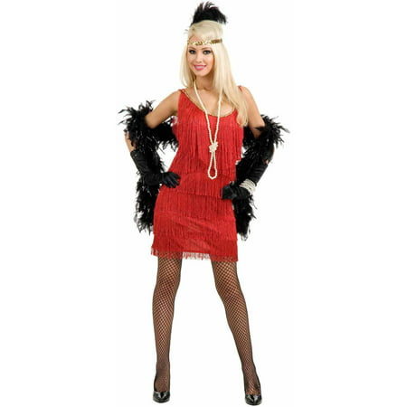 Plus Size Flapper Costume 3x (Fashion Flapper Red Plus Size Women's Adult Halloween)