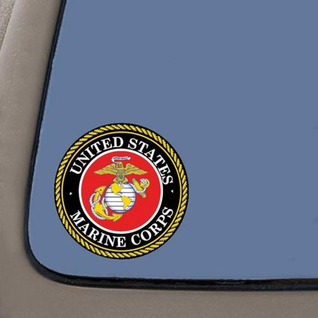 Car Decals And Graphics (Marine Corps Decal Sticker | 4-Inch Decal Sticker | USMC Decal | US Marines | 2-Pack | Car Truck Van SUV Laptop Macbook Wall Decals )