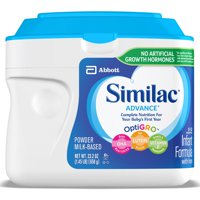 Similac Advance Baby Formula To Support Brain & Eyes, 6 Count Powder, 1.45-lb Tub