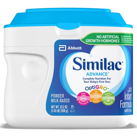 Similac Advance Infant Formula with Iron, Powder, 1.45 (Earths Best Organic Infant Powder Formula With Iron)