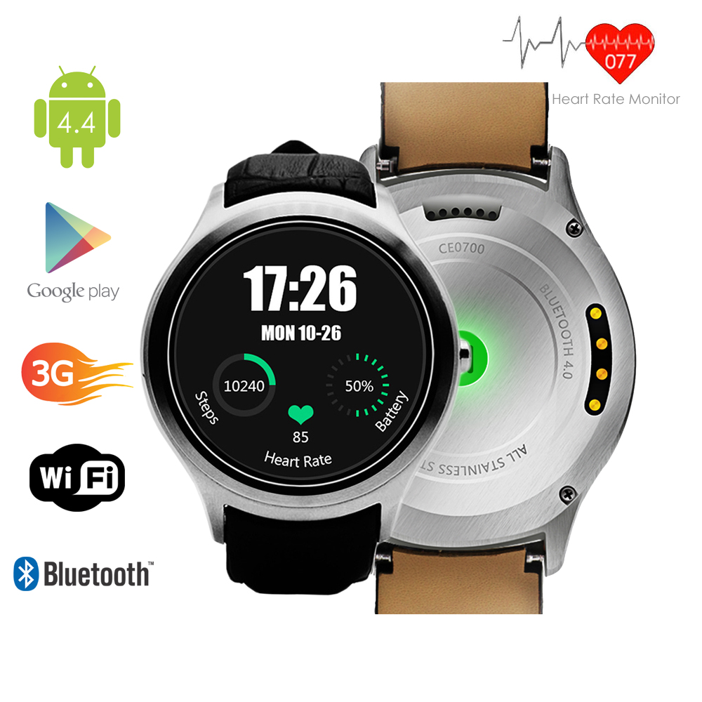 inDigi Android 4.4 KitKat SmartWatch and Phone (3G Factor...