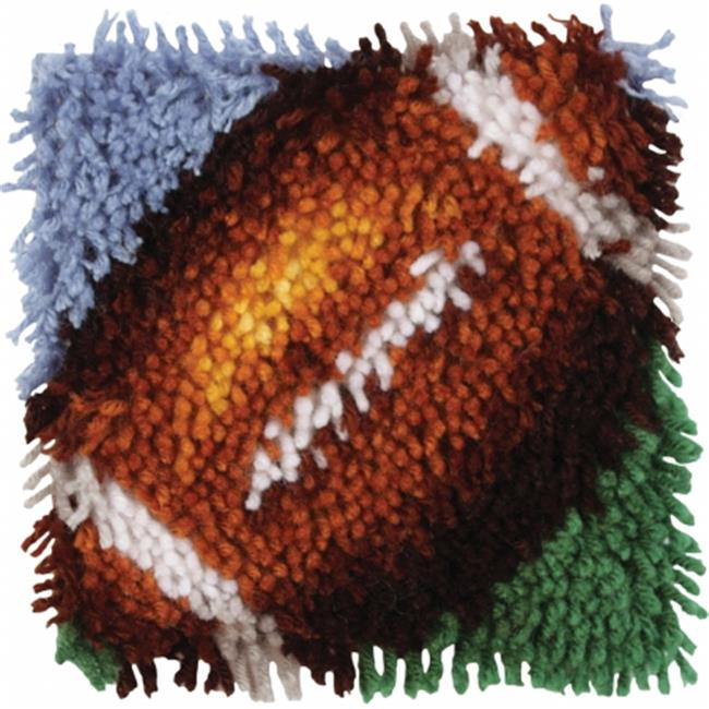 Wonderart Latch Hook Kit - Football, 8 x 8 in.