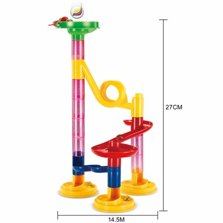 DIY Marble Run Coaster Maze Toy - Hanmun DIY Marble Race Toy 29 Piece (Marble Maze)