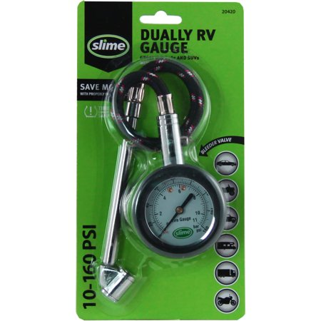 Slime Dually Tire Pressure Gauge 10-160 PSI - 20420