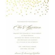 Wedding invitations gold dots standard wedding invitation solutioingenieria Image collections