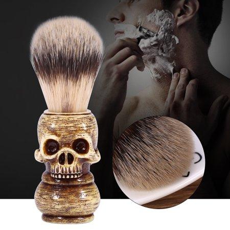 Mens Grooming Tool Makeup Skull Head Barber Salon Beard Shaving Brush - Halloween Skull Makeup Ideas For Men