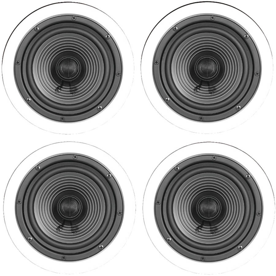 "ArchiTech Premium Series X-4BULK 6.5"" Premium Series Ceiling Speakers, 4pk"