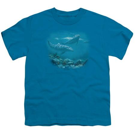 Wildlife Bottlenosed Dolphins Big Boys Youth Shirt