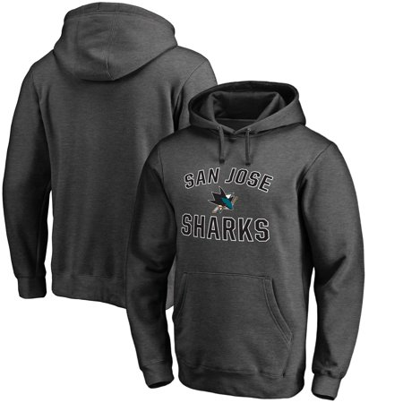 San Jose Sharks Fanatics Branded Victory Arch Fleece Pullover Hoodie - Charcoal ()
