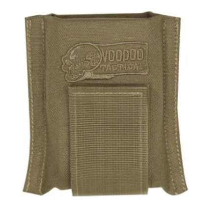 Voodoo Tactical Single Padded Open Top Rifle Magazine Pouch, Coyote Tan