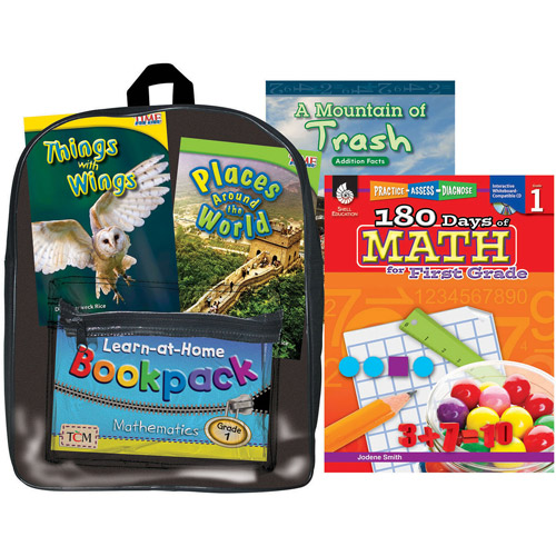 Shell Education Learning At Home Backpack, Grade 1 Mathematics