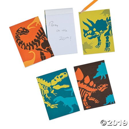 Dinosaur Fossil Party Favor Notepads - 24 ct](Dinos Party Center)