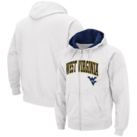 West Virginia Mountaineers Colosseum Arch & Logo Tackle Twill Full-Zip Hoodie - White