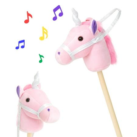 Best Choice Products 38in Kids Stuffed Plush Pretend Giddy Up Unicorn Stick Toy w/ Fun Sounds and Velcro Strap - Pink](Fun Bar Stuff)