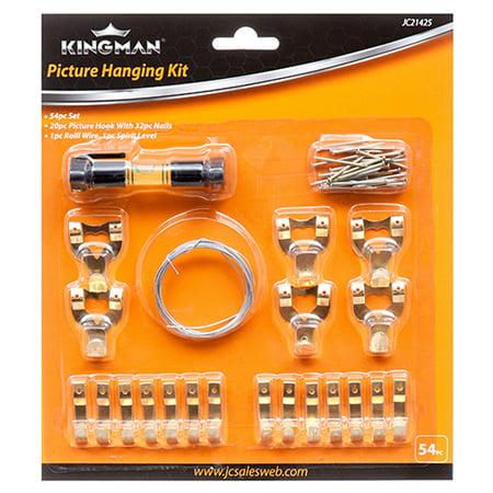 New 313899  Kingman Picture Frame Hanging Kit 54Pcs (24-Pack) Lighters Cheap Wholesale Discount Bulk Hardware Lighters - Frames Cheap