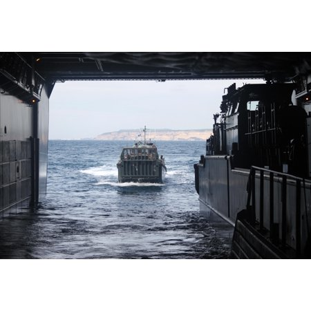 Canvas Print 151023-USAN-2994B-008 SIERRA DEL RETIN, Spain A Dutch landing craft prepares to enter the we Stretched Canvas 10 x