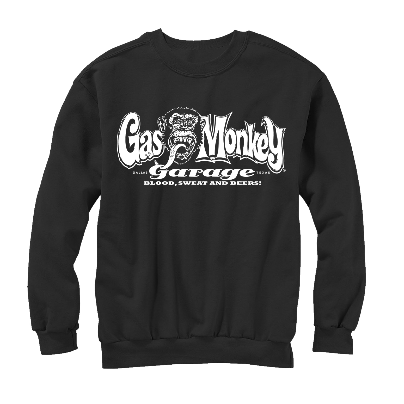 Gas Monkey Blood, Sweat, and Beers Mens Graphic Sweatshirt