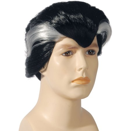 Star Power Male Uncle Vampire With Silver Streaks Wig, Black, One Size (Uncle Fester With Wig)