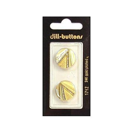 Dill Buttons 18mm 2pc Shank Enamel Matte -