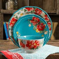 The Pioneer Woman Vintage Floral 12-Piece Dinnerware Set