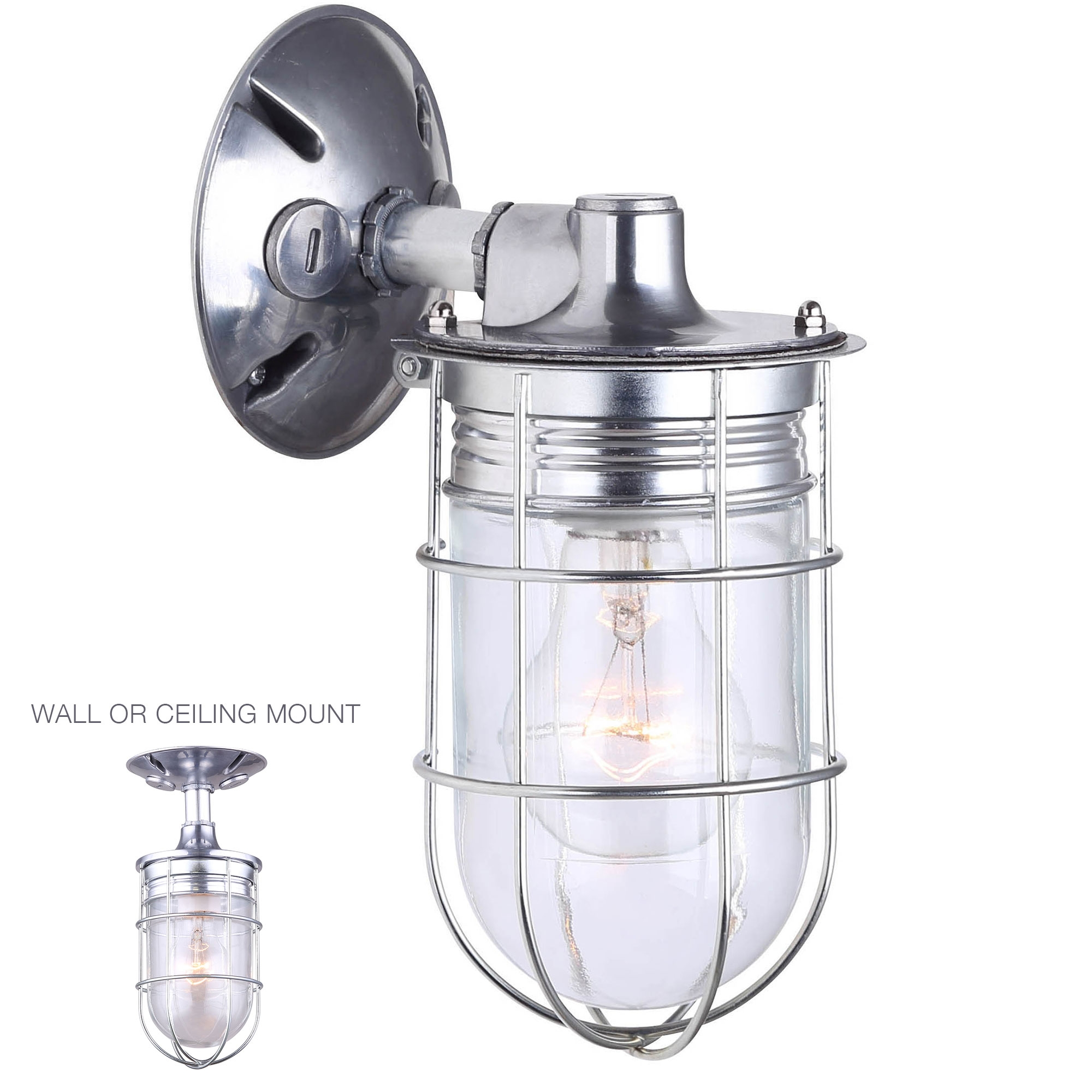 Weatherproof Exterior Outdoor Cage Light Wall or Ceiling Mount Lantern Industrial Barn... by HowPlumb