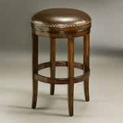 Impacterra 26 in. Naples Bay Backless Leather Counter Stool - Distressed Cherry