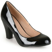 Brinley Co. Womens Patent Leather Classic Pumps
