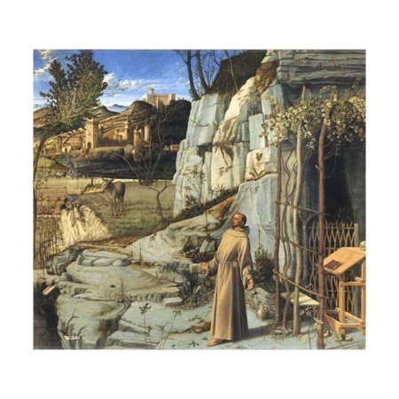 Saint Francis in the Desert by Giovanni Bellini Print Wall Art
