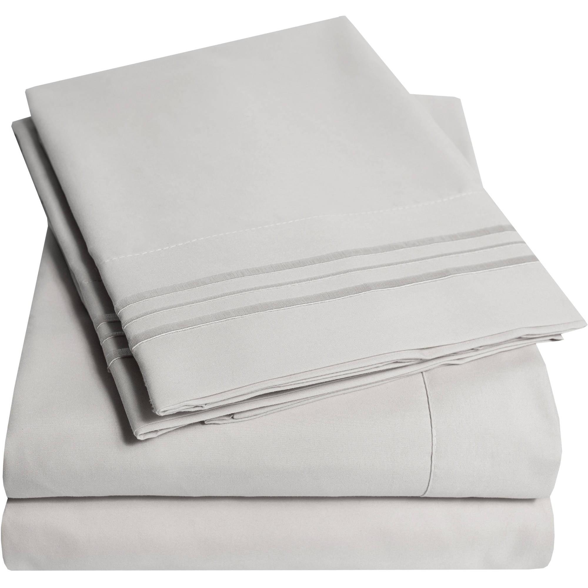 Olivia Branch 1800 Thread Count Microfiber Bed Sheet Set Walmart