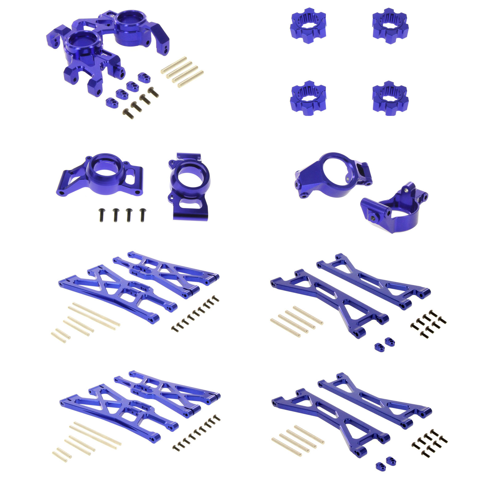 Traxxas X-Maxx Ultimate Alloy Upgrade Kit by Atomik RC Blue by Atomik RC