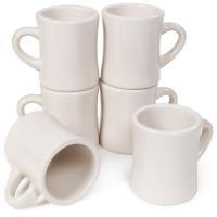 6-pack Diner Coffee Mugs, Tea & Hot Beverages, 10oz   Thick Ceramic Drink
