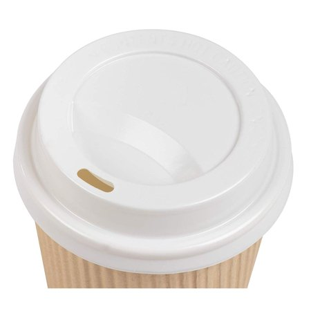 Disposable Coffee Cups Set - 100-Pack Kraft Paper 8-Ounce ...
