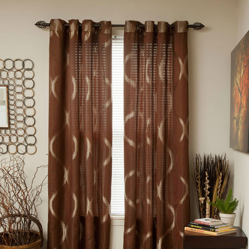 Somerset Home Metallic Window Panel Grommet Curtains, Set of 2