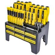 JEGS 100 Piece Screwdriver & Bit Set with Storage Rack 81384