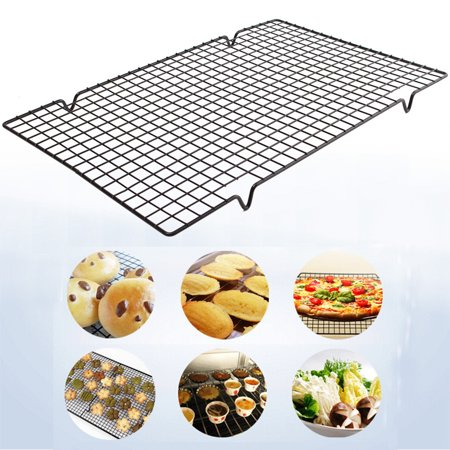 Nonstick Oven Cooker Cooling Grill Pan Grid Rack Shelf Mesh Food Stand 40 bbqgrill x - Grill Pan Grid