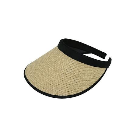 Top Headwear Toyo Braid Clip-On Visor - Khaki