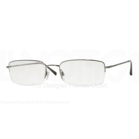 3921eb0e7709 BURBERRY Eyeglasses BE 1068 1003 Gunmetal 54MM - Walmart.com