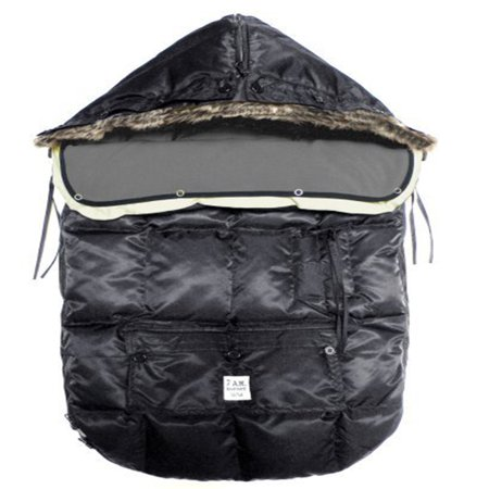 "7A.M. ENFANT ""Le Sac Igloo"" Footmuff, Converts into a Single Panel Stroller and Car Seat Cover - Black, Medium"