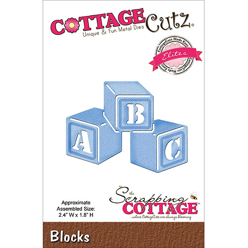 "CottageCutz Elites Die, 2.4"" x 1.8"", Blocks"