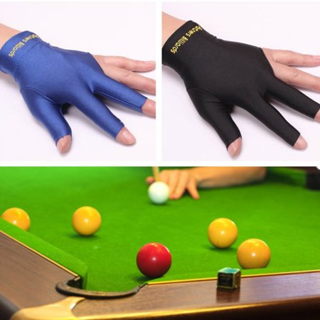 3-Finger Snooker Pool Cue Glove Billiards Shooters Glove for Men Women thumbnail
