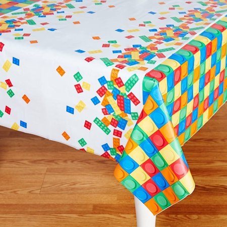 Building Block Party Plastic Tablecover](Sf Halloween Block Party)