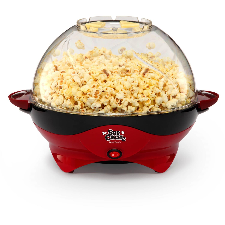 West Bend Stir Crazy Deluxe Popcorn Popper Red 798837921352 Ebay