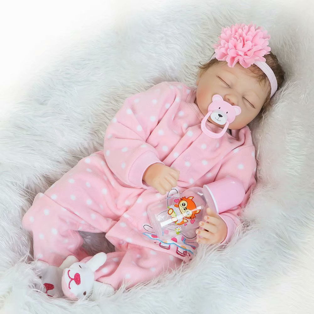 "Noroomaknet Silicone Baby Dolls That Look Real,22"" Reborn ..."